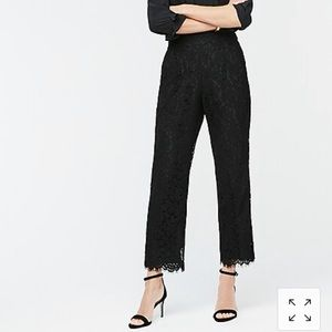 J. Crew pull-on pant in black lace size 4